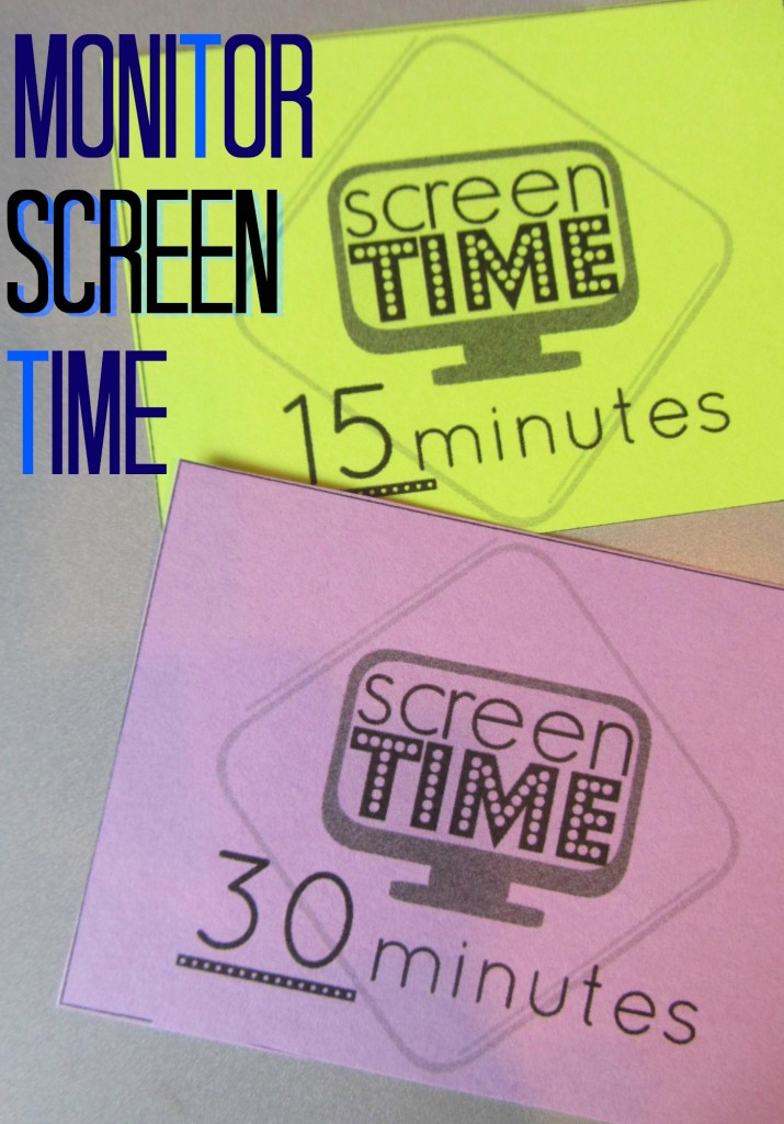 screen time cards for digital kids: easy tool for monitoring screen time