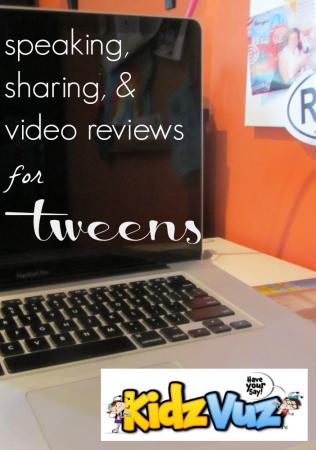 help tweens with speaking, sharing, and video reviews: kidzvuz