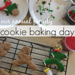 our cookie baking day: favorite family annual holiday tradition