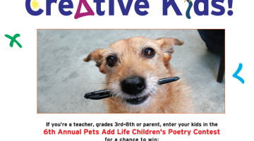 pet poetry contest: calling all creative kids!