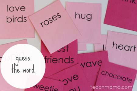 valentines day class party ideas guess the word teachmama.com