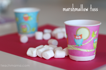 valentines day class party ideas marshmallow toss teachmama.com