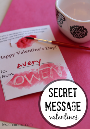 secret message valentines