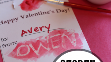 secret message valentines: homemade, candy-free, totally cool