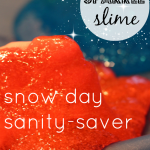 how to make homemade slime: snow day sparkle slime