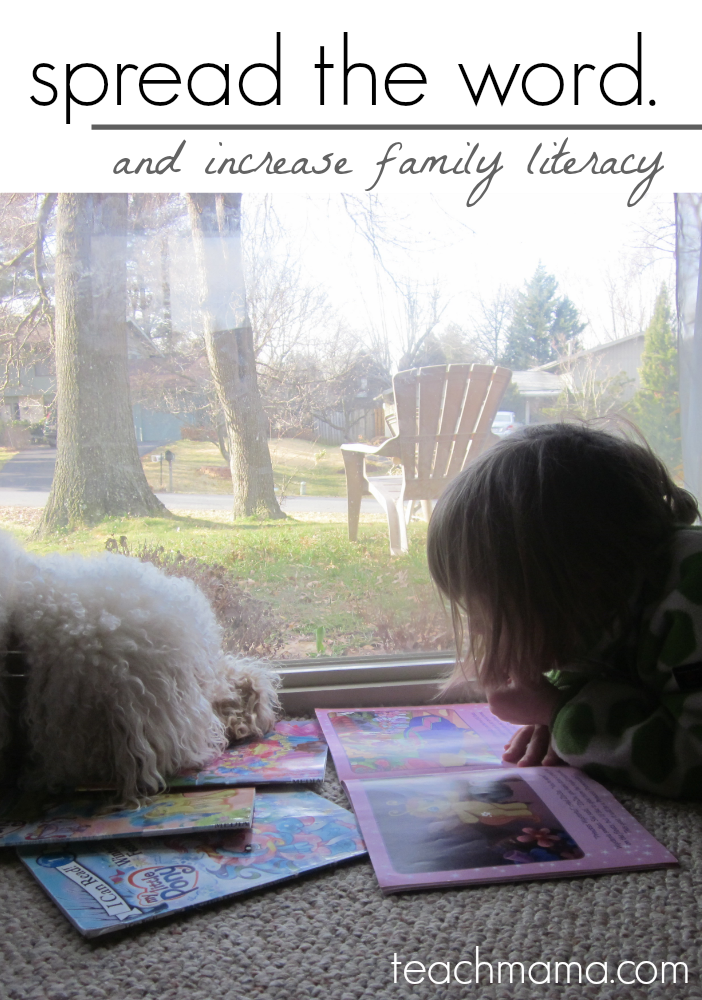 spread the word and increase family literacy