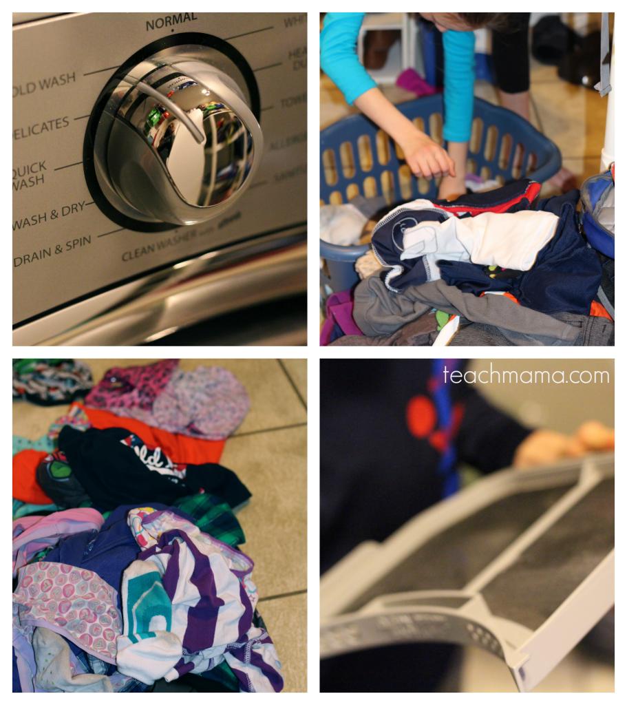 teach kids how to do laundry 2  wash warriors collage 3 teachmama.com.