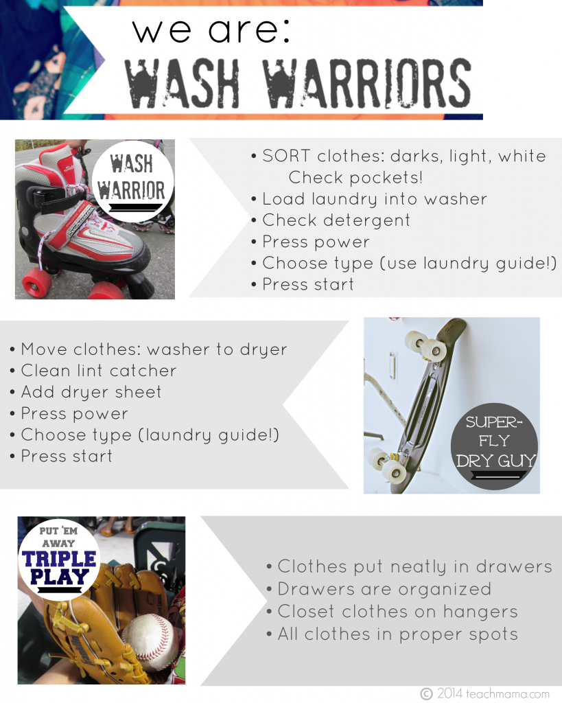 teach kids how to do laundry 2 wash warriors teachmama.com
