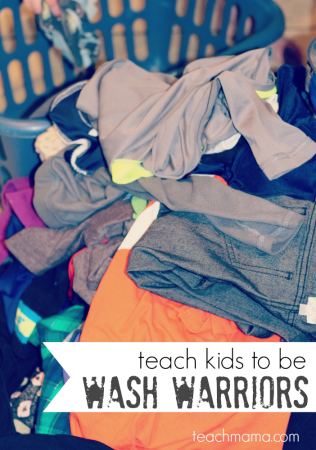 teach your kids how to do laundry: become wash warriors