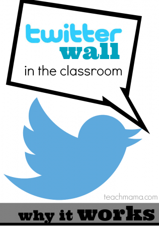twitter wall in the classroom teachmama.com | analog twitter wall