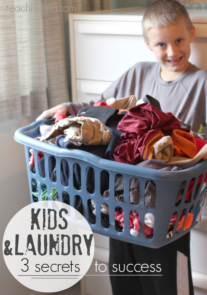 kids and laundry | 3 secrets to success | teachmama.com