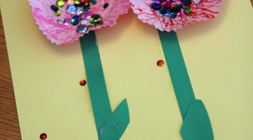 sweet, sparkly flower craft for kids: read, learn, create