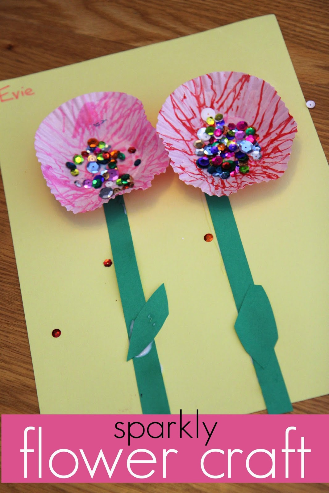 sweet sparkly flower craft for kids read learn create   teach mama