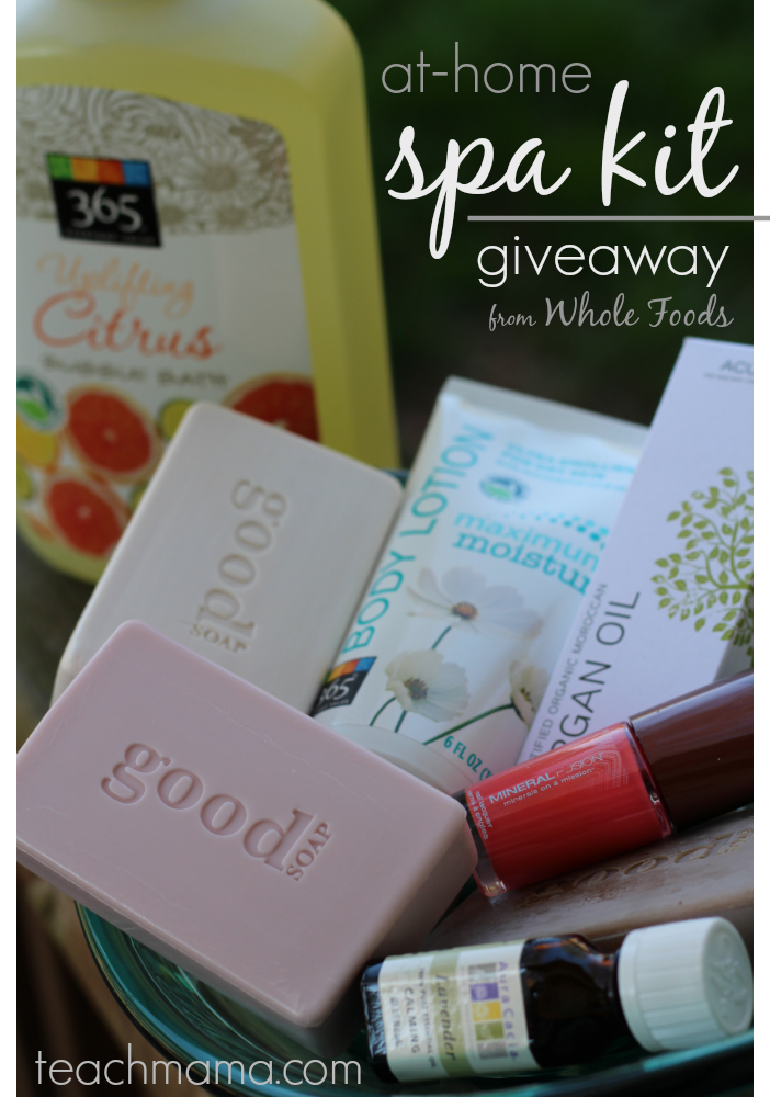 at home spa kit giveaway from whole foods | mother's day giveaway series teachmama.com