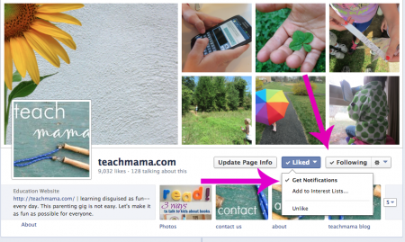 facebook teachmama stay connected