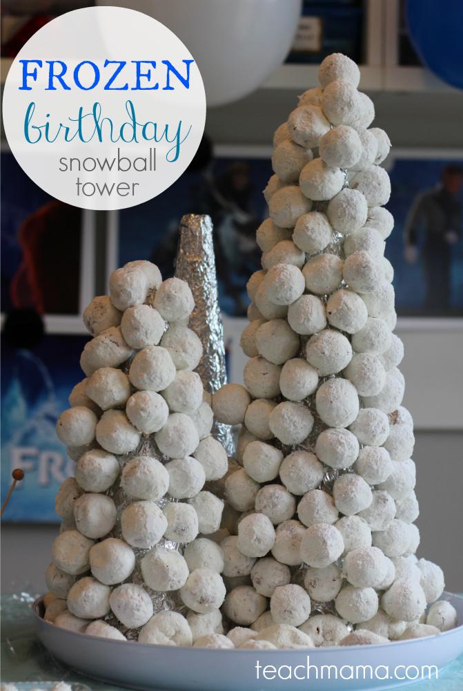 frozen birthday cake snowball tower  teachmama.com.png