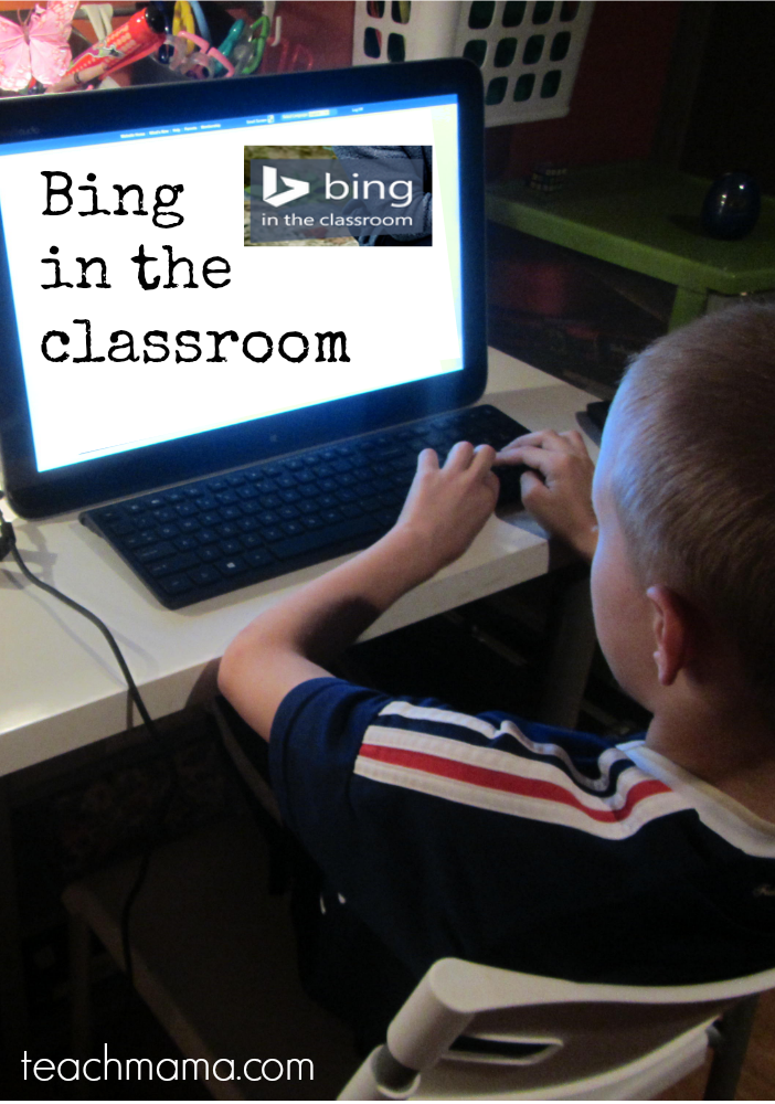 bing in the classroom or at home | cover teachmama.com
