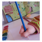 first steps to writing: teaching grip to first letters and words