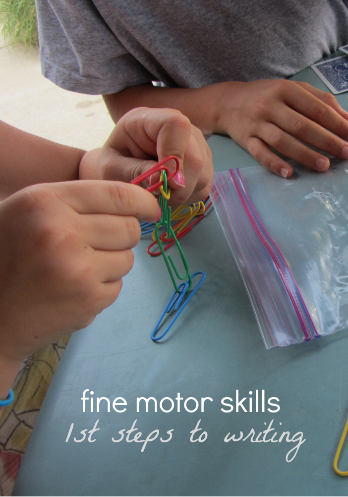 first steps to writing fine motor skills