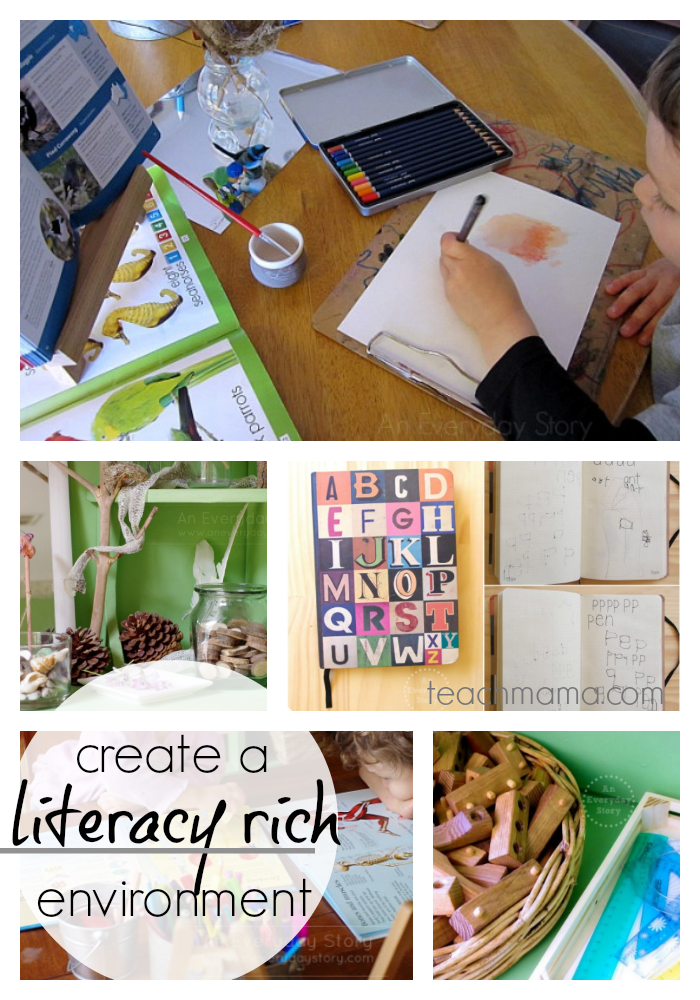 10 ways to create a literacy rich environment | guest post by kategribble on teachmama.com