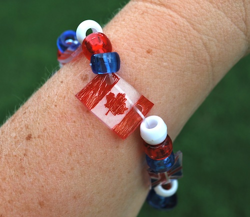 shrinky dink flag bracelet: super-cool patriotic craft