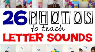 teach letter sounds using 26 kid-centered photos