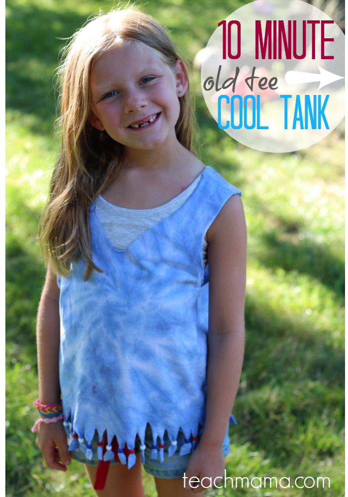 how to turn an old t-shirt into cool tank: 10 min or less