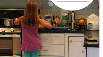 make a kid-friendly kitchen without a major renovation