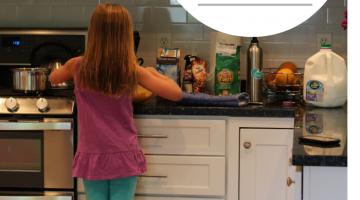 make a kid-friendly kitchen without a major renovation