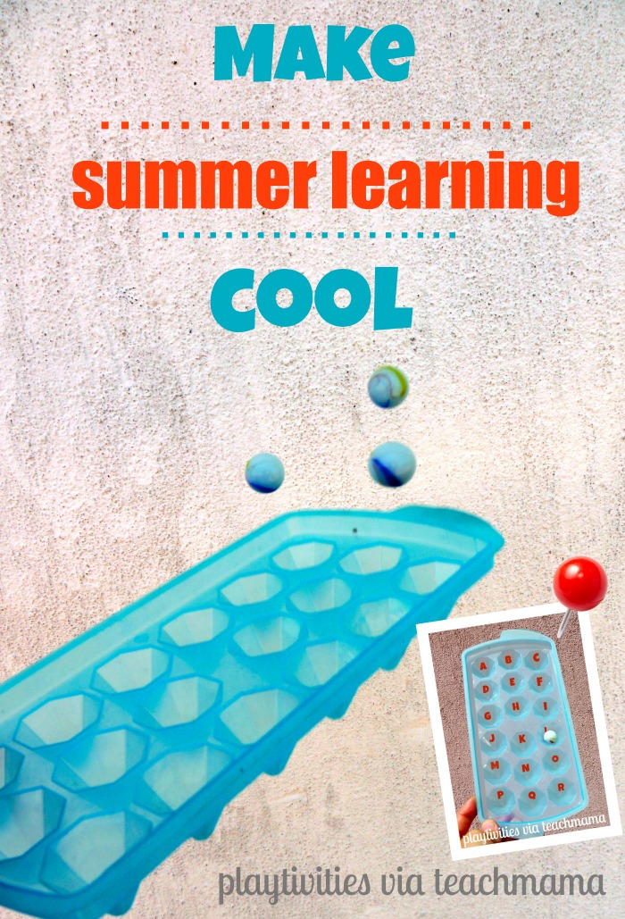 fun summer activity for learning letters and numbers