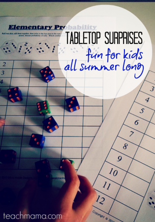 keeping kids busy in the summer: tabletop surprises