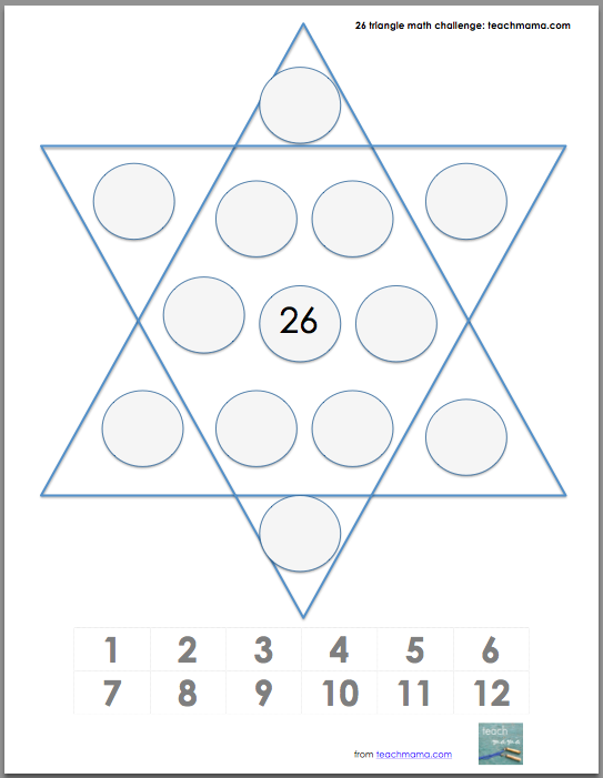 26 triangles: tricky, fun math game