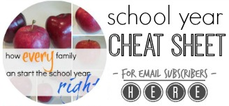 school year cheat sheet: make the year awesome