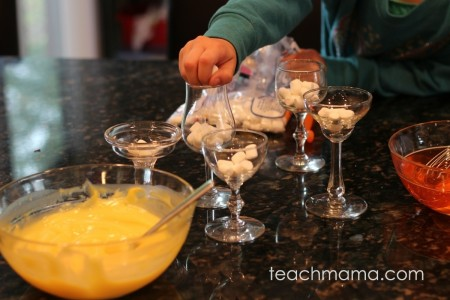 make easy candy corn dessert with kids (not perfect and still cool)