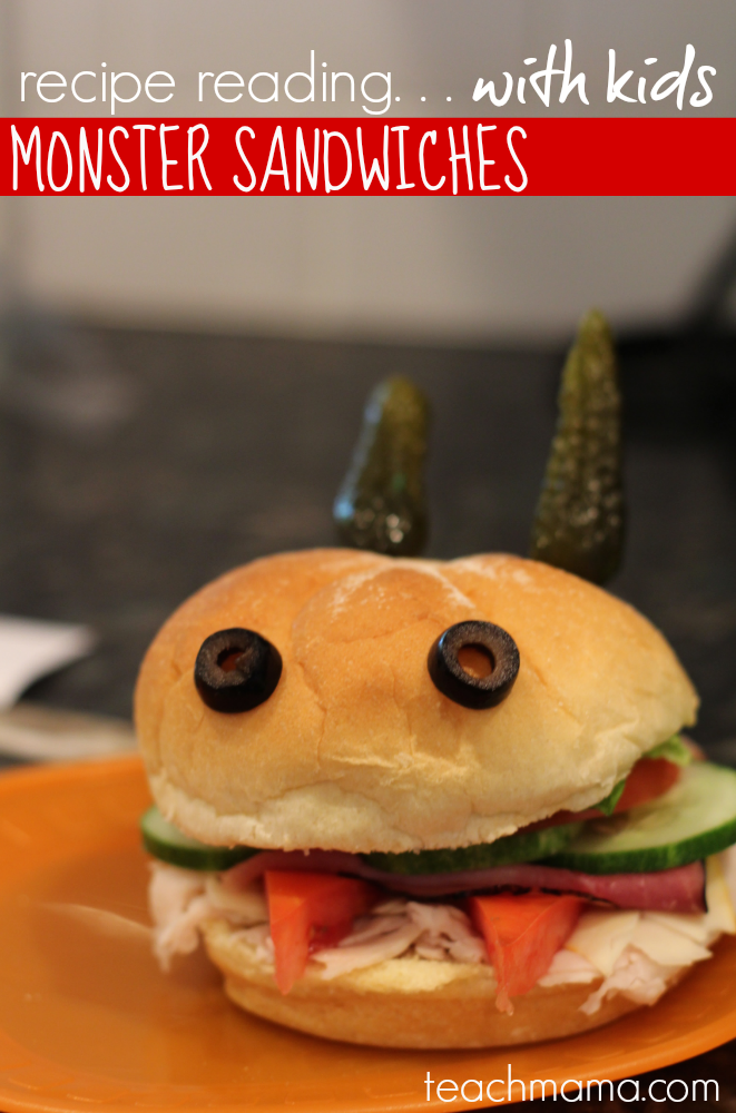recipe reading for kids fun learning in the kitchen with monster sandwiches MONSTER