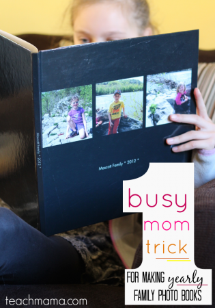 busy mom trick for making yearly photo books | teachmama.com