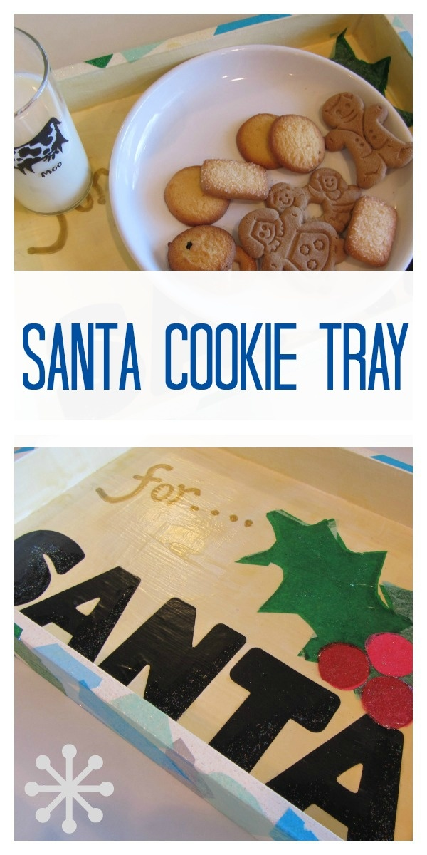 santa cookie tray