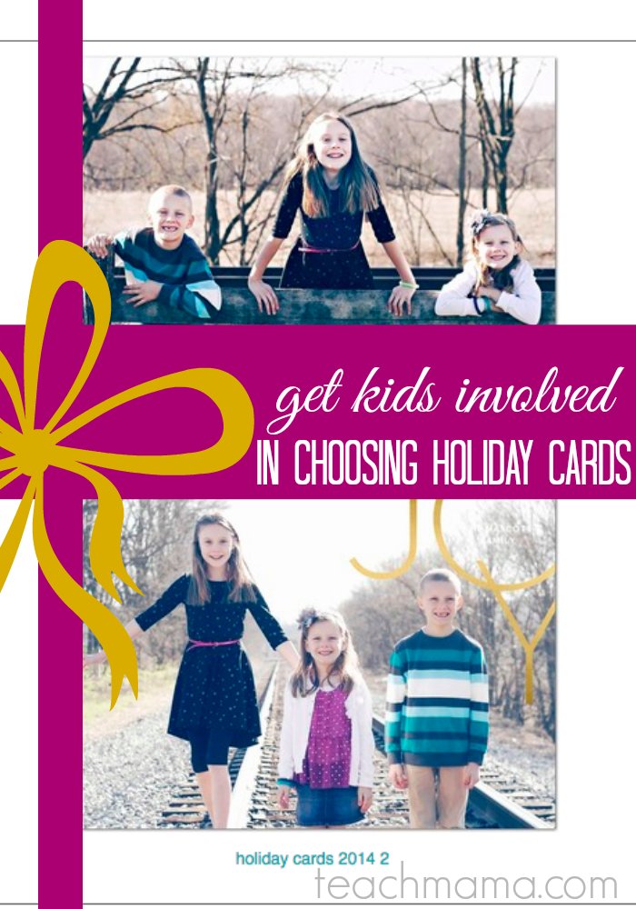 get kids involved in choosing holiday cards | teachmama.com