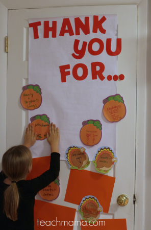 thankful door: reminding our kids to be grateful every day