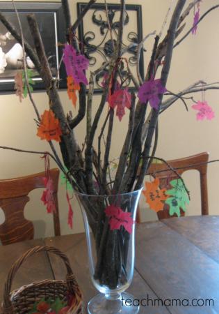 our thankful tree | teachmama.com