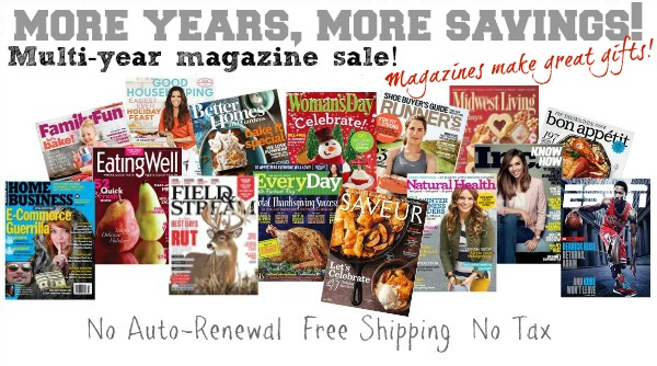 multi year magazine subscription | best holiday deal