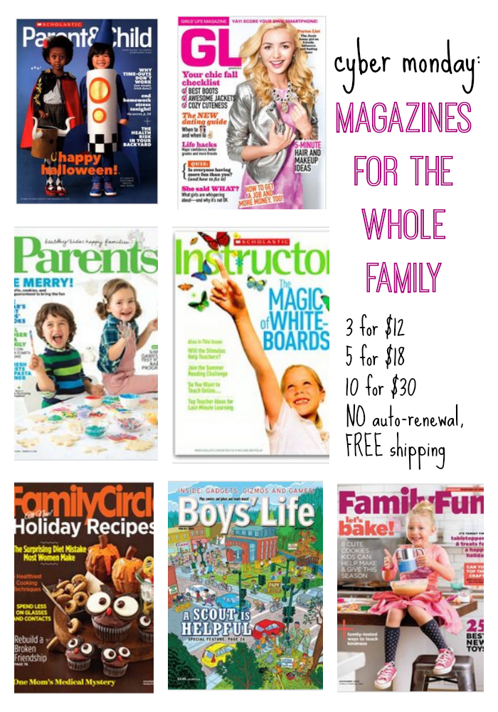 cyber monday magazines for whole family  teachmama.com