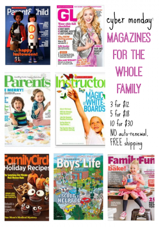 cyber monday: magazine deal for families