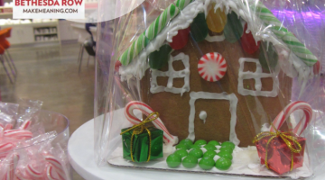 enjoy the holiday: gingerbread houses & giving back at Make Meaning Bethesda Row