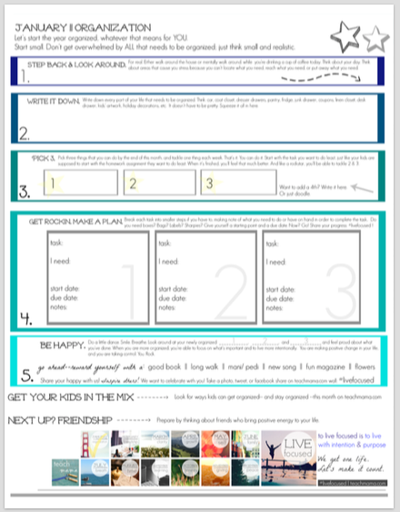 get organized the plan sheet | teachmama.com