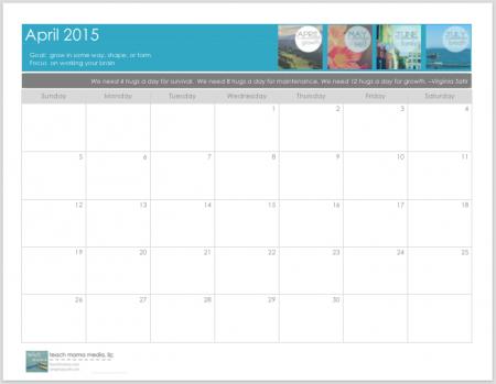 free blank 2015 calendar: get organized STAT | teachmama.com