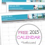 free blank 2015 calendar: get organized STAT