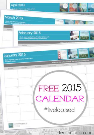 free blank 2015 calendar: get organized STAT teachmama.com