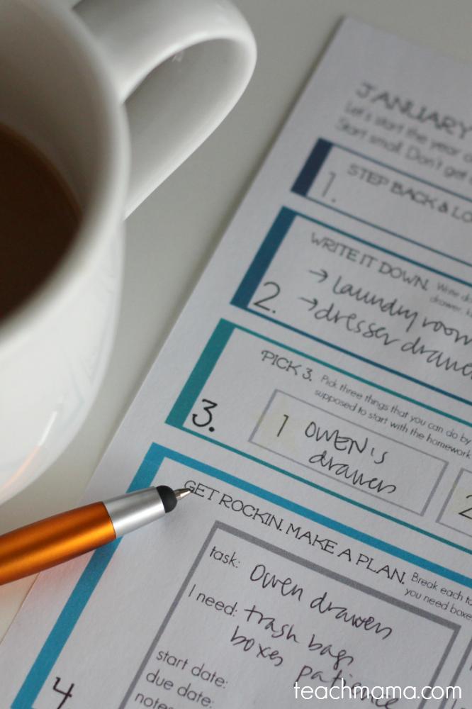 get organized the plan sheet  teachmama.com
