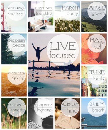 live focused in 2015: give yourself a fresh start and live with intention